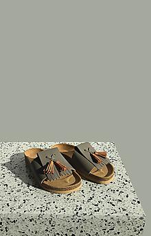 Obuv - Korkáče Grey/Karamel Strapp - 13152567_