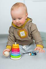 Detské oblečenie - Detská roláková mikinka s kapucňou - 13155506_