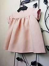 Detské oblečenie - Ľanové šatôčky - 13154306_