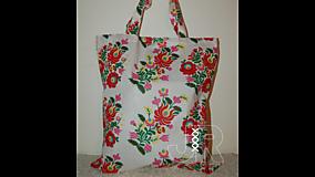 Nákupné tašky - nákupná ľudová - 13154155_