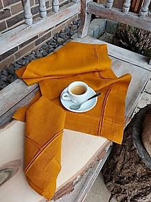 Úžitkový textil - Ľanová štóla Obsession Orange - 13155149_