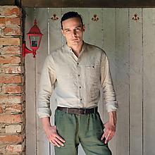 Oblečenie - Ľanová košeľa Radovan (M) - 13158115_