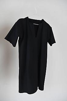 Šaty - Teplákové  Šaty/ Tunika /čierne/ - 13159925_