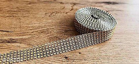 Galantéria - Kamienková stuha -šírka 2 cm- cena za 10 cm (Zlatá) - 13157569_