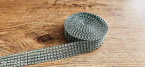 Galantéria - Kamienková stuha -šírka 2 cm- cena za 10 cm (Zelená) - 13157574_
