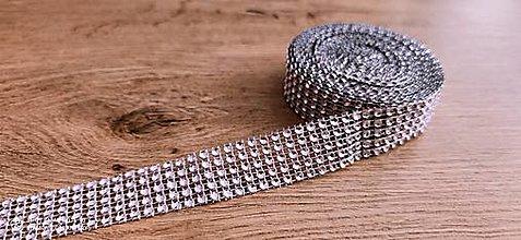 Galantéria - Kamienková stuha -šírka 2 cm- cena za 10 cm (Fialová) - 13157575_
