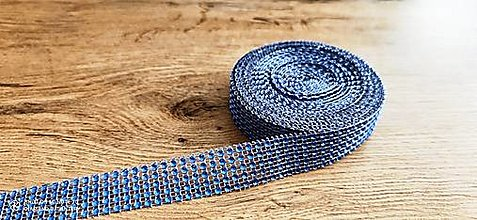 Galantéria - Kamienková stuha -šírka 2 cm- cena za 10 cm (Modrá) - 13157577_