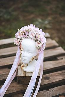 Ozdoby do vlasov - Dvojradová romantická ružová parta - 13160581_