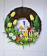 """Dekorácie - Jarný veniec """" Pri tom našom plote"""" - 13160132_"""