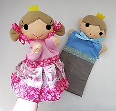 Hračky - Sada maňušiek na ruku (Princ a princezná) - 13159536_