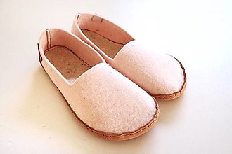 Obuv - Petja papuče filcové púdrové - 13159472_