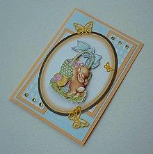 Papiernictvo - Zajačik s košíkom - 13160965_
