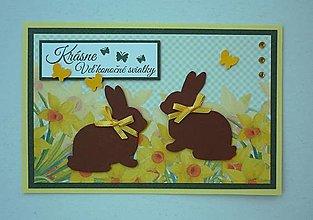 Papiernictvo - Zajačiky v narcisoch - 13161046_