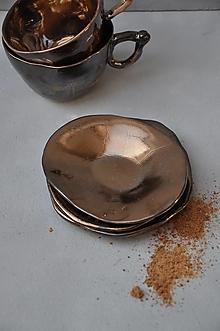 Nádoby - tanierik, podšálka, svietnik kruh kovový - 13158063_