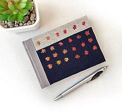 Papiernictvo - Vyšívaný zápisník Strapaté bodky - A6 - 13160626_