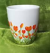 Nádoby - Maľovaný hrnček Tulipány - 13156649_