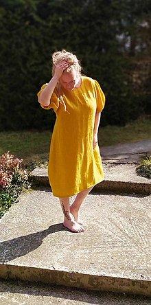 Šaty - Ľanové šaty - 13159337_
