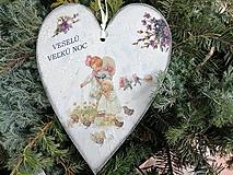 Dekorácie - veľkonočné srdce 9 - 13158492_