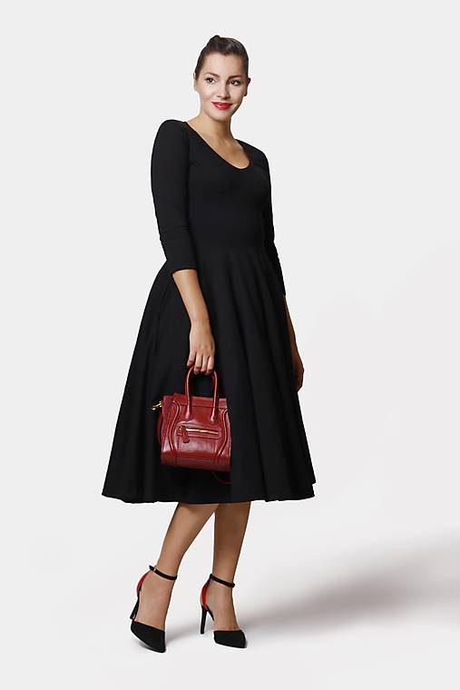 Šaty - Šaty Midi čierne - 13165194_