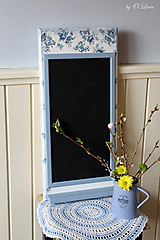 Tabuľky - Magnetická tabuľa - Vintage modré ruže - 13163178_