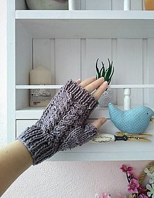 Rukavice - Bezprstové rukavice Tweed - 13162340_