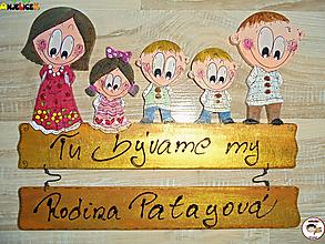 Tabuľky - Menovka - rodinka - 13161556_