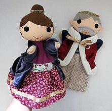 Hračky - Sada maňušiek na ruku - Kráľ a kráľovná - 13163826_