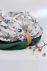 """Šatky - Ekluzívny veľký dámsky nákrčník z ľanu a kvetinovej bavlny """"PetitFlorie"""" - 13162709_"""