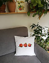 Úžitkový textil - Vankúš 3 jablká - 13162552_
