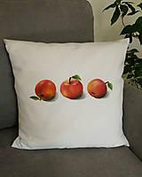 Úžitkový textil - Vankúš 3 jablká - 13162554_