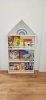 Detské doplnky - Montessori domčeková knižnica biela - 13164870_