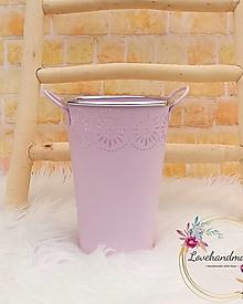 Dekorácie - Váza s uškami ružová 20cm - 13163917_