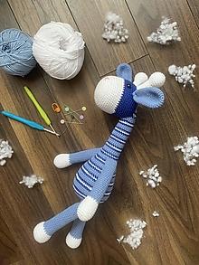 Hračky - žirafka Modráčik - 13162463_