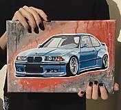 Obrazy - Maľba auta na objednávku - 13164379_