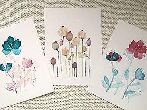 Obrazy - Obrazy jarné kvety a makovičky - akvarel  - 13162794_