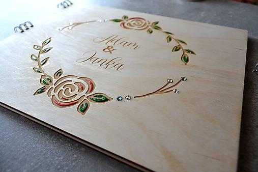 Svadobný fotoalbum maľované kvety (ruže)