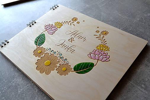 Svadobný fotoalbum maľované kvety (kvety)