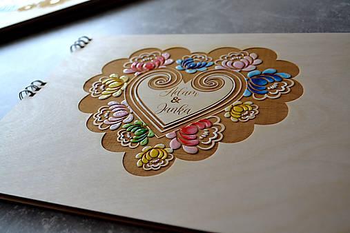 Svadobný fotoalbum folk maľovaný (Margarétka)