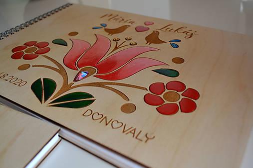 Svadobný fotoalbum folk maľovaný (Dorka)