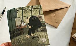 """Papiernictvo - Eco-pohľadnica """"Roztomilý strážnik"""" - 13161313_"""