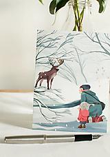 "Papiernictvo - Eco-pohľadnica ""Magické stretnutie"" - 13161321_"