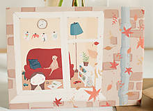 "Papiernictvo - Eco-pohľadnica ""Jeseň za oknom"" - 13161330_"