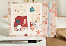"Papiernictvo - Eco-pohľadnica ""Jeseň za oknom"" - 13161331_"