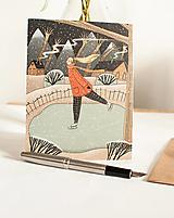 """Papiernictvo - Eco-pohľadnica """"Na ľade"""" - 13161365_"""