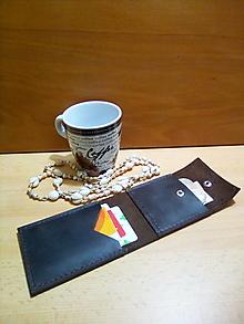 Peňaženky - Kožená peňaženka - hnedá - 13162526_