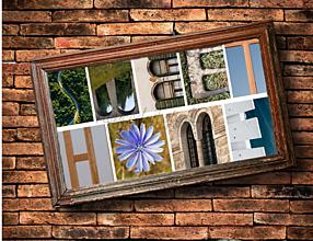 Obrazy - Nápis SWEET HOME nástenná dekorácia - 13164957_