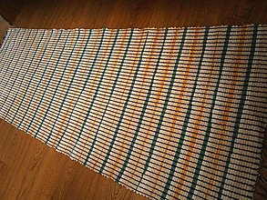 Úžitkový textil - tkany koberec tyrkys - 13167926_