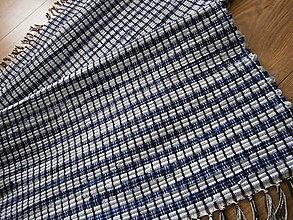 Úžitkový textil - tkany koberec modry - 13168049_