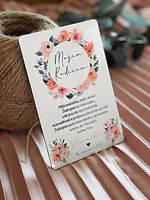 Darčeky pre svadobčanov - Poďakovanie rodičom 67 venček - 13168676_