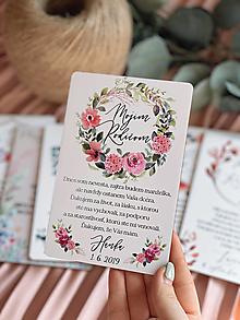 Darčeky pre svadobčanov - Poďakovanie rodičom 70 venček - 13168731_